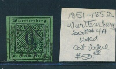Own Part Of Wurttemberg Stamp History 1 Issue Cat Value $50.00