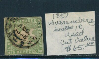 Own Part Of Wurttemberg Stamp History 1 Issue Cat Value $65.00