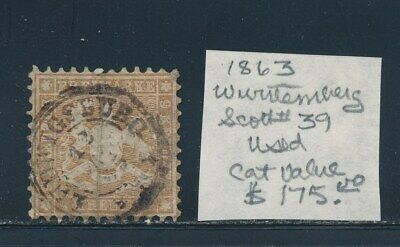 Own Part Of Wurttemberg Stamp History 1 Issue Cat Value $175.00