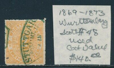 Own Part Of Wurttemberg Stamp History 1 Issue Cat Value $140.00