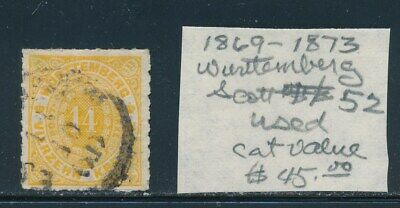 Own Part Of Wurttemberg Stamp History 1 Issue Cat Value $45.00