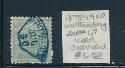 Own Part Of Wurttemberg Stamp History 1 Issue Cat Value $6.50