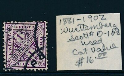 Own Part Of Wurttemberg Stamp History 1 Issue Cat Value $16.00