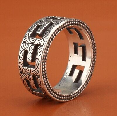 Vintage Chinese 925 Silver Solid Silver Real Silver Ring Old Handmade