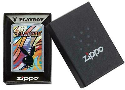 Zippo Windproof Playboy Lighter With Playboy Bunny & Logo, 49007, New In Box