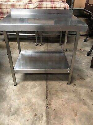 Stainless Steel Kitchen Table With Shelf (commercial)