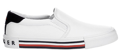 New TOMMY HILFIGER Slip-on Casual Womens Shoes Sneakers White Navy Red  5.5 - 11