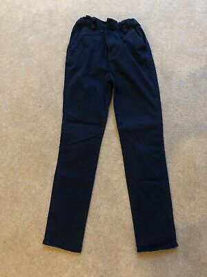 BOYS Age 10 YEARS TU CHINO TROUSERS NAVY . Ex Condition