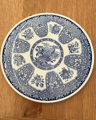 THE SPODE BLUE ROOM COLLECTION CAKE PLATE - 9 3/4 inches Filigree design