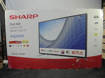 "SHARP 2T-C40BG5KG2FB 40"" Smart Full HD LED TV - DAMAGED BOX"