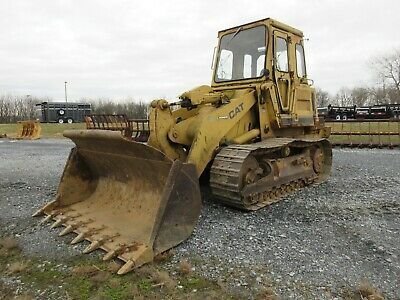 Caterpillar 953 Crawler Loader, Cab, 8826 Hours, Original Paint, Pedal Steer