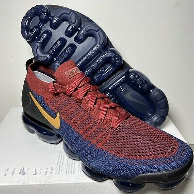Nike Air Vapormax Flyknit 2 Mens 942842-604 Red Obsidian Running Shoes Size 10