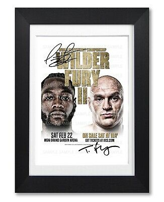 Tyson Fury Vs Deontay Wilder Ii Signed Poster Print Photo Autograph Gift Boxing