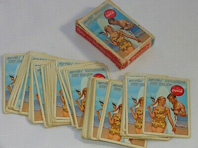 1960 Coca Cola ~ ZING REFRESHING NEW FEELING ~ Playing Cards w/ Box