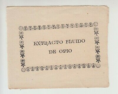 OPIUM EXTRACT - original vintage Spain bottle label cca 1910. MEGA RARE