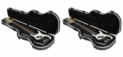 (2) SKB 1SKB-FB-4 Precision Electric Bass Guitar Hard Cases