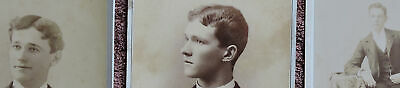 Brothers 1870S Cleveland, Oh, Set Of 3 Photos