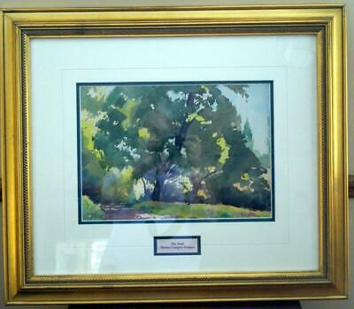 "THOMAS LANGLEY DONGES (1901-1992) THE TRAIL Watercolour 21.75"" by 25.25"" frame"
