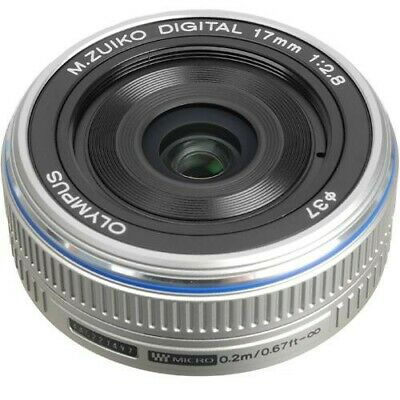 Olympus M.Zuiko 17mm f/2.8 Lens For Four Thirds (Silver)