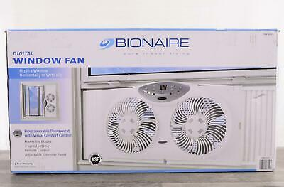Bionaire Window Fan with Twin 8.5-Inch Reversible Airflow Blades Remote 3DAYSHIP