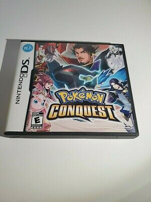 Pokemon Conquest - Nintendo DS - Great Condition - Complete - Tested - Free Ship