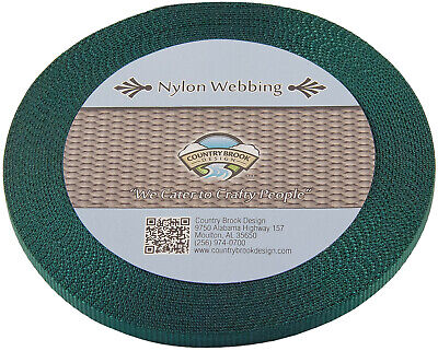 3/8 Inch Green Heavy Nylon Webbing, 10 Yards