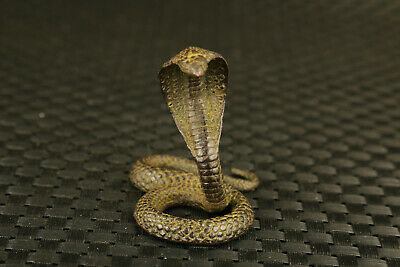 chinese old bronze hand casting snake statue figure collectable home decor table