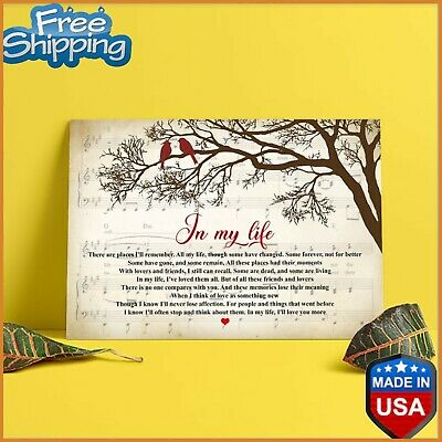 In My Life The Beatles Lyrics Poster Paper Poster No Frame US Supplier FREESH