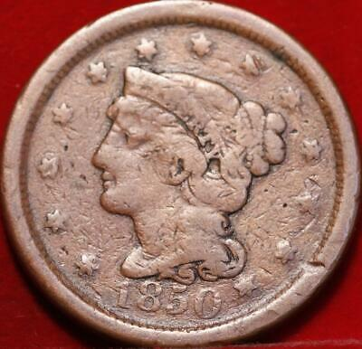 1850 Philadelphia Mint Copper Braided Hair Large Cent