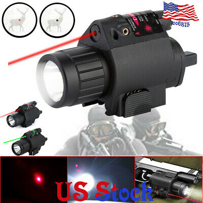 Green/Red Laser Sight LED Tactical Laser Flashlight Combo Picatinny Mount Rail