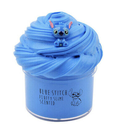 Blue stitch fluffy slime scented Disney brand blue