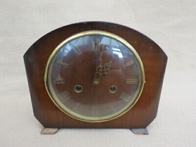 Vintage Smiths Enfield Hamilton Striking 8 Day Mantel Clock For Repair