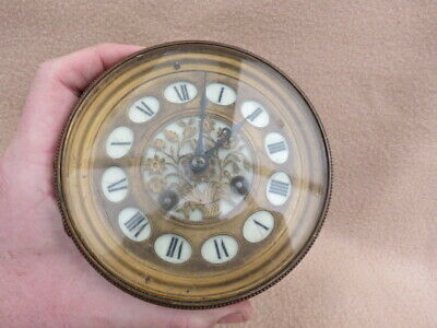 Antique S Marti French Striking Clock Movement And Dial  (Lot D)