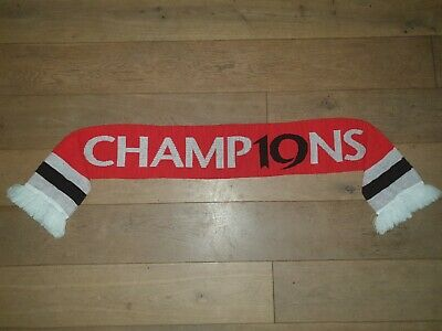 Official MANCHESTER United Champions Champ19ns FOOTBALL Scarf