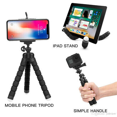 Mini trépied flexible Universel pour smartphone photo Camera avec support(NOIR)