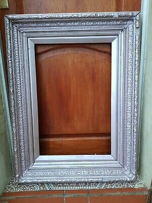 Antique-Victorian-Large & Ornate Carved Mahogany Frame For Painting-c1880's