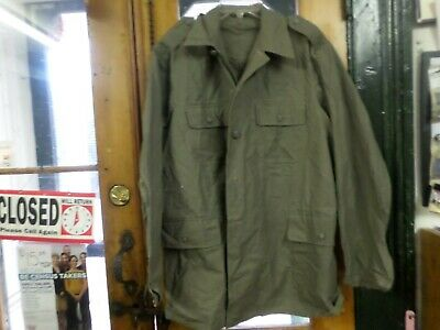 Mid Century-Swedish Home Guard Heavy Shirt - Nice 3 Crown Buttons- Size Medium.