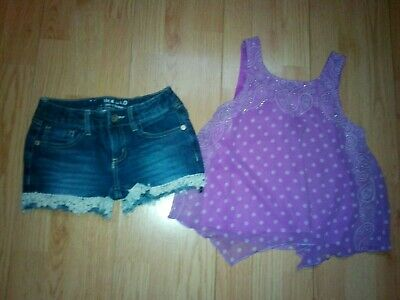 JUSTICE and ROEBUCK &  CO 2 PIECE GIRLS OUTFIT SIZE 8