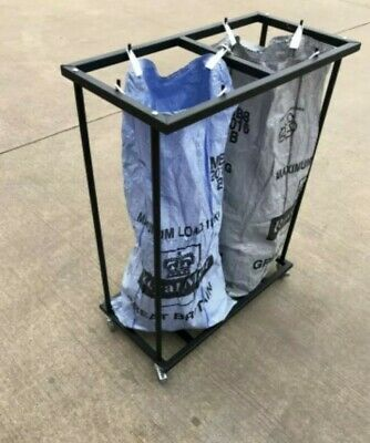 Mail Room Twin Sack Trolley Double Postage Post Bag HolderUK Made High Quality