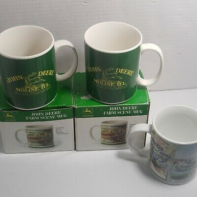 John Deere Coffee Mug lot of 5 Ceramic RC4136 John Deere licensed product