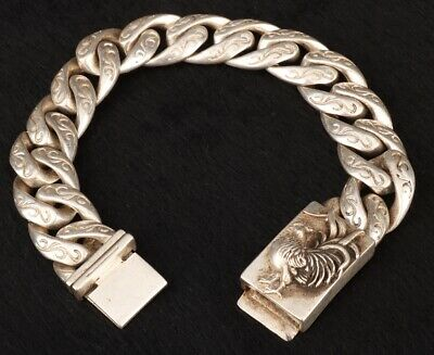 Tibet Silver Bracelet Rooster Decorative Crafts Lady Collection