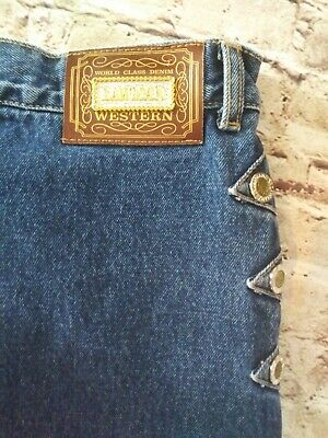Vtg LAWMAN Size 17/18 Western High Rise Relaxed Fit Mom Jeans