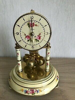 ANNIVERSARY CLOCK (400 day), KERN Electro Magnetic, Glass Dome,1950s Vintage