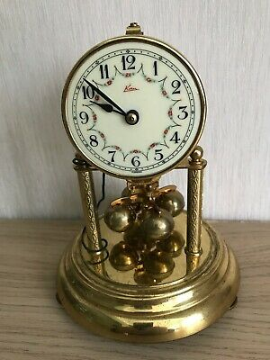 ANNIVERSARY CLOCK (400 day), KERN Electro Magnetic, Glass Dome, Vintage 1950s
