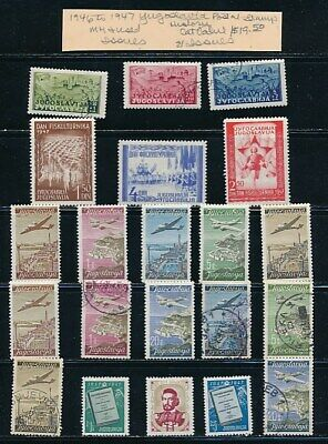 Own Part Of Yugoslavia Stamp History 21 Issues Cat Value $19.50
