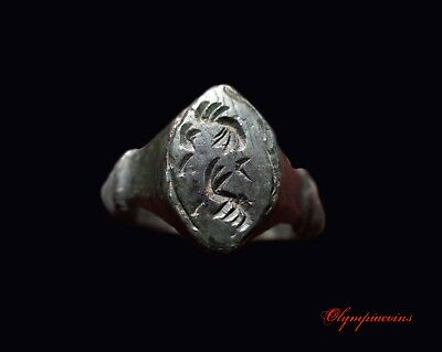 ** AMAZING ** Ancient Roman Bronze ring ** EAGLE WINGS **
