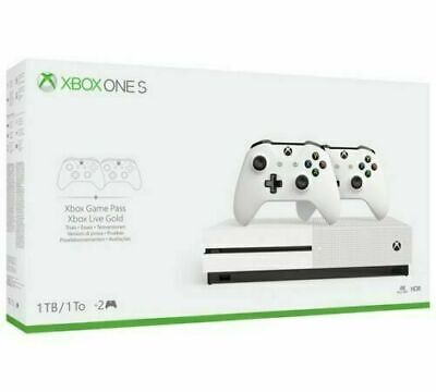 Xbox One S 1TB Console Two Dual Controller Bundle - BRAND NEW