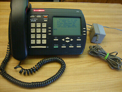 Vintage Aastra Telecom Charcoal Vista 390 Desk Telephone Made In Mexico