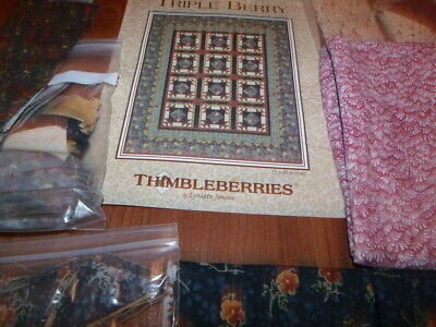 "Thimbleberries TRIPLE BERRY Pattern and Fabrics for Quilt 72"" x88"""