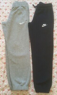 X2 PAIRS NIKE BOYS BLUE & GREY JOGGERS AGE 8-10 YEARS 128-137cm
